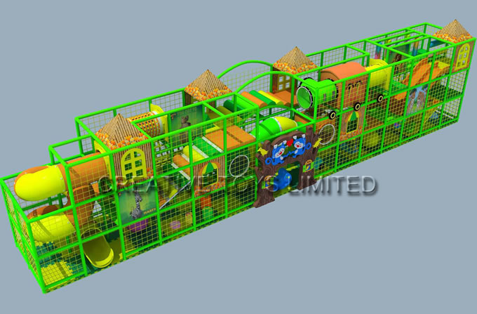 Child indoor soft playground equipment